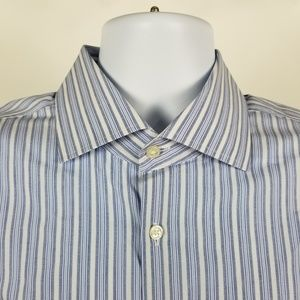 Hugo Boss Sharp Fit Blue White Striped 17 32/33